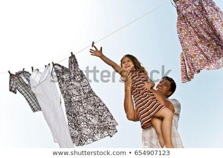 lavado · día · lavandería · naturaleza · verde - foto stock © is2