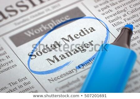 Social Media Manager Wanted. 3D. Stock photo © tashatuvango