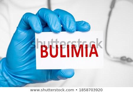 Boulimia medische diagnose verslag pillen spuit Stockfoto © tashatuvango