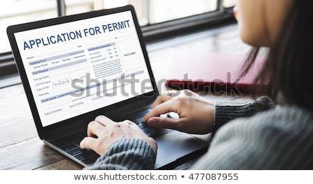 webpage   concept on laptop screen stock photo © tashatuvango