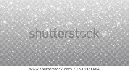 Seamless vector white snowfall effect on black background. Overlay snow flake Christmas or New Year  Stock photo © Iaroslava
