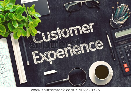 customer experience on black chalkboard 3d rendering stock photo © tashatuvango