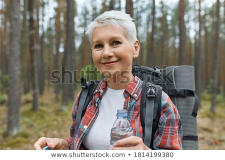 mature woman hiking Stock photo © IS2