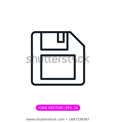 Magnetic floppy disc icon. Stock photo © smoki