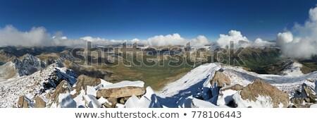 Panorama stóp Colorado chmury krajobraz śniegu Zdjęcia stock © pancaketom