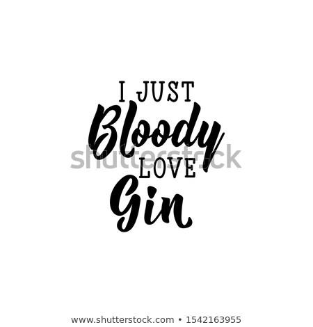 Bloody Love Text Stock photo © blamb
