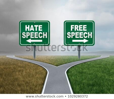 ırkçılık · nefret · sosyal · iki · insanlar · tartışma - stok fotoğraf © lightsource