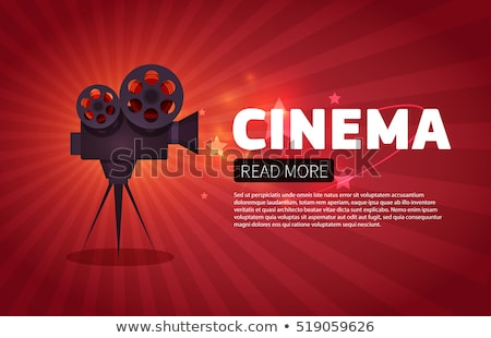 Stockfoto: Vintage · filmcamera · vector · cartoon · illustratie