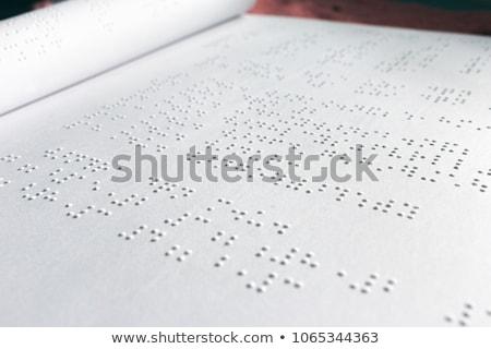 Close-up of braille book Stock photo © wavebreak_media