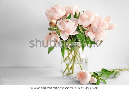 Váza virágok asztal dekoráció virág senki Stock fotó © IS2