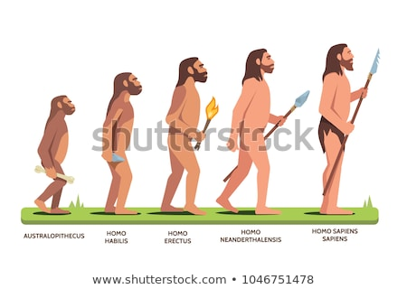 Progression of man mankind from ancient to modern Stock photo © Elnur