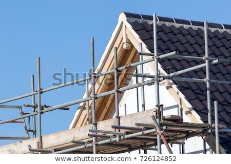 Scaffolding on a house Stock photo © IS2