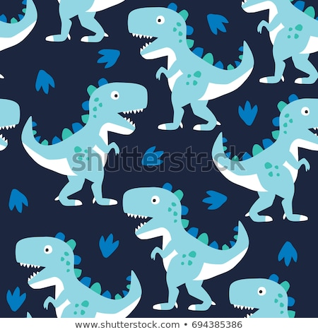 cute dinosaur seamless pattern adorable cartoon dinosaurs in love stock photo © natali_brill
