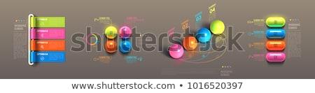 Jelentés 3D fényes vektor ikon terv Stock fotó © rizwanali3d