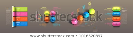 Verslag 3D glanzend vector icon ontwerp Stockfoto © rizwanali3d
