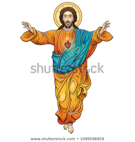 Jesus Christ Face. Gods Son. Biblical religious vector illustrat Stock photo © popaukropa