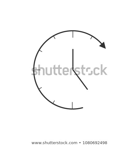 Linear Clock icon in trendy flat style isolated on white background. Clock icon page symbol for your Stock photo © kyryloff