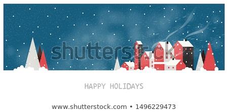 winter landscape background vector stock photo © andrei_