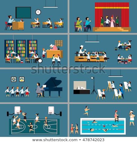 Zdjęcia stock: Uczeń · szkoły · gotowania · klasy · edukacji · portret