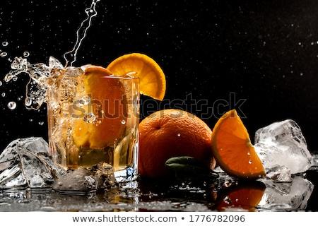Ice · Cube · клубника · изолированный · белый · аннотация · свет - Сток-фото © m-studio