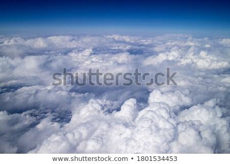 Heldere hemel hoog wolken witte blauwe hemel Stockfoto © liolle