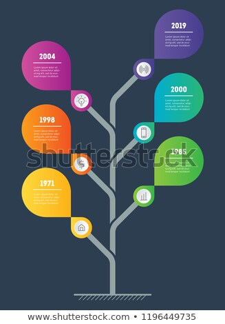 Zaman Çizelgesi ağaç yaprak uzay iş Stok fotoğraf © odina222