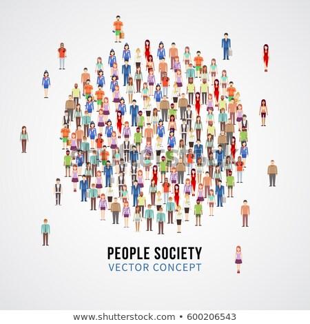 pessoas · forma · círculo · isolado · moderno - foto stock © kyryloff