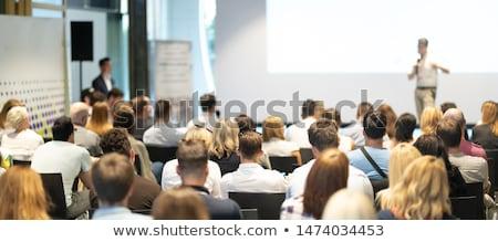 Konuşmacı iş tanıtım bulanık siluet projeksiyon Stok fotoğraf © lightpoet
