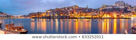 Panoramisch Portugal panorama oude binnenstad Stockfoto © joyr