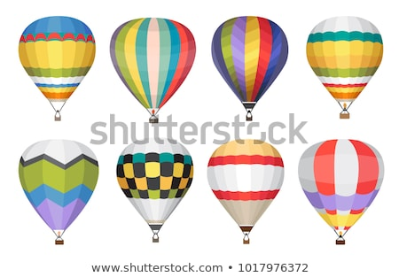 Hot Air Balloon In Blue Sky Vector Сток-фото © Anastasiia Kozubenko