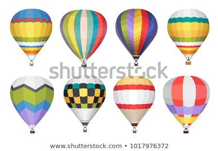 Luchtballon blauwe hemel vector icon wolken hemel Stockfoto © MarySan