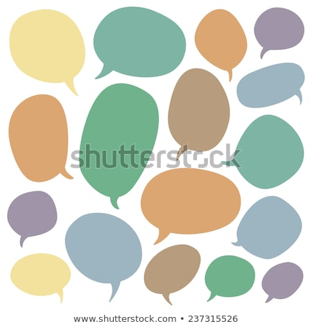 Big green speech bubble Stock photo © orson