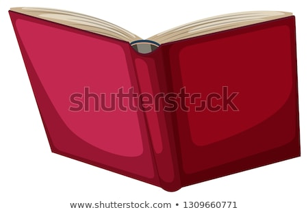 open red book back isolated vector illustration stock photo © maryvalery