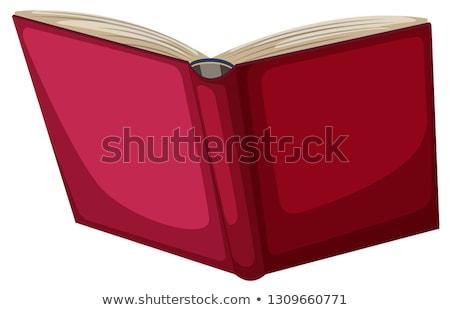 Abrir vermelho livro de volta isolado textura Foto stock © MaryValery