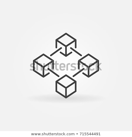 Blockchain Vector Icon Stock photo © smoki