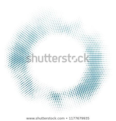 Blue Halftone Grunge Ring Texture Stock photo © tuulijumala
