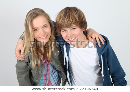 retrato · meninos · amigos · adolescente · sorridente - foto stock © monkey_business