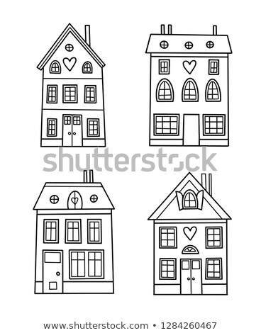 Stockfoto: Home · pagina · schets · doodle · icon