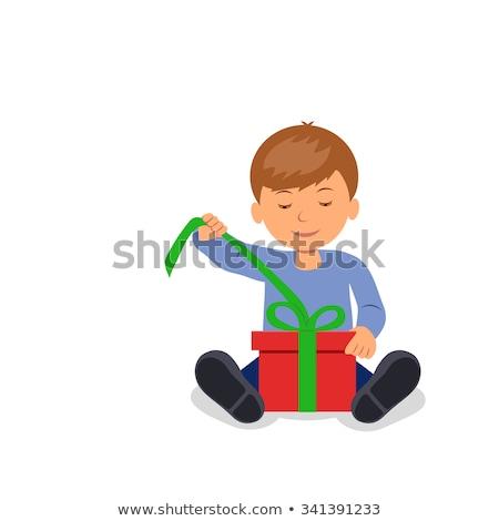 Kinder · Öffnen · Geschenke · Illustration · Junge · kid - stock foto © pikepicture