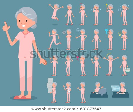 flat type patient senior woman_sickness Stock photo © toyotoyo