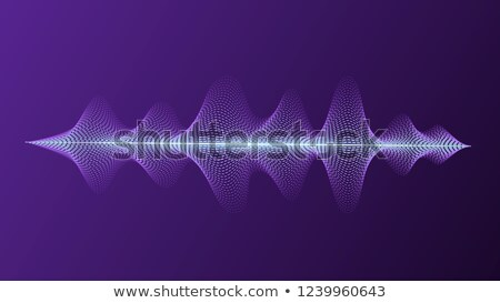 Personal assistant and voice recognition concept. Microphone button with bright voice and sound imit Stock photo © makyzz
