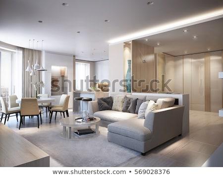 large modern white wardrobe in luxury house stock photo © iriana88w