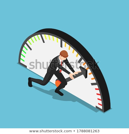 indicators improvement isometric flat vector conceptual illustration stock photo © tarikvision