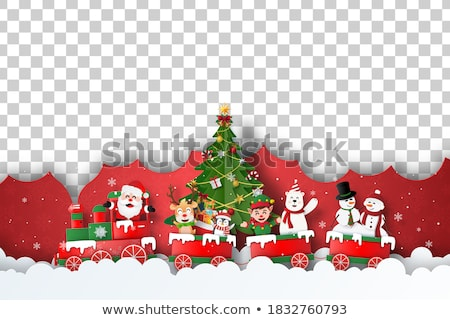santa flying in a sleigh stock photo © bluering