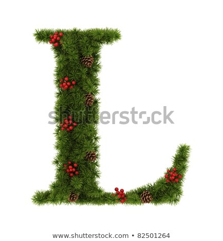 christmas alphabet letter l stock photo © grafvision