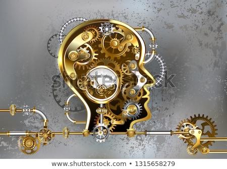 Steampunk fej gépi emberi antik fém Stock fotó © blackmoon979