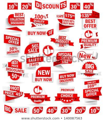 Verkauf · Tag · Set · Tags · isoliert · weiß - stock foto © olianikolina