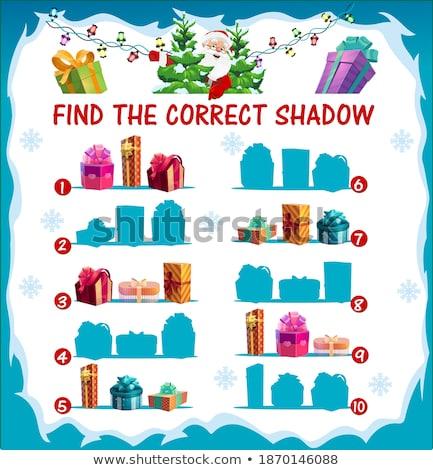 oscuridad · juego · Navidad · Cartoon · ilustración - foto stock © izakowski
