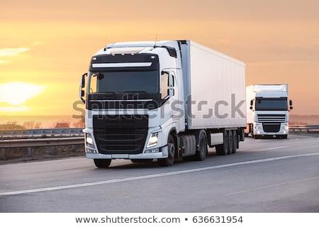 ciężki · transport · ciężarówka · ciężarówka · drogowego · samochodu - zdjęcia stock © ssuaphoto