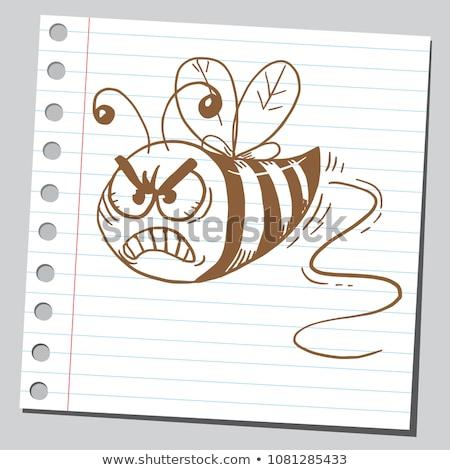 Boos cartoon vliegen illustratie Stockfoto © cthoman
